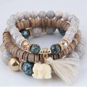 Elephant Stretch bracelet set ➰🆕➰3pc